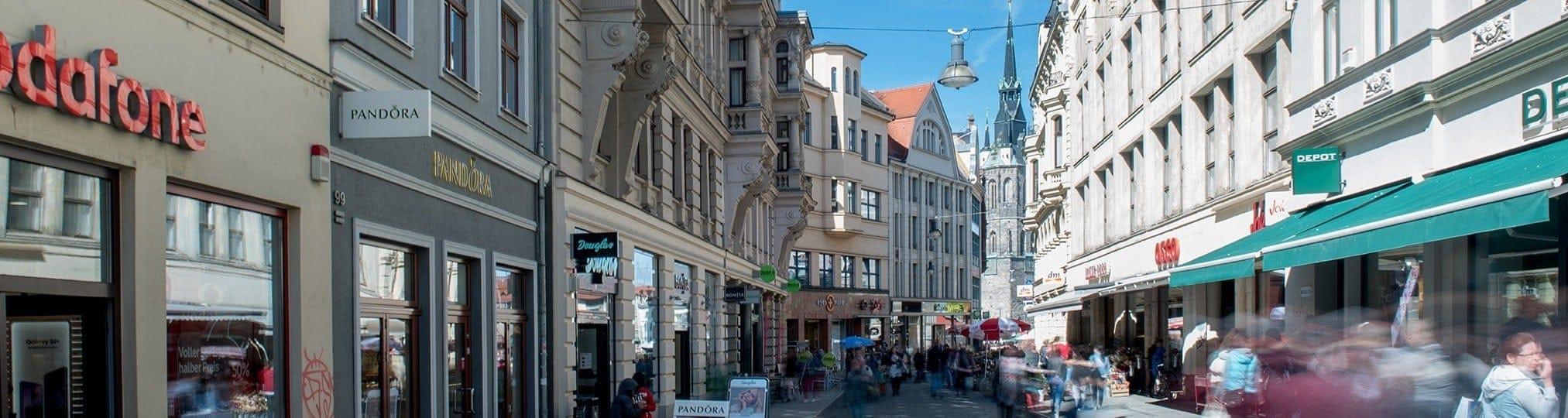 Stadtgeschehen in der Einkaufsmeile