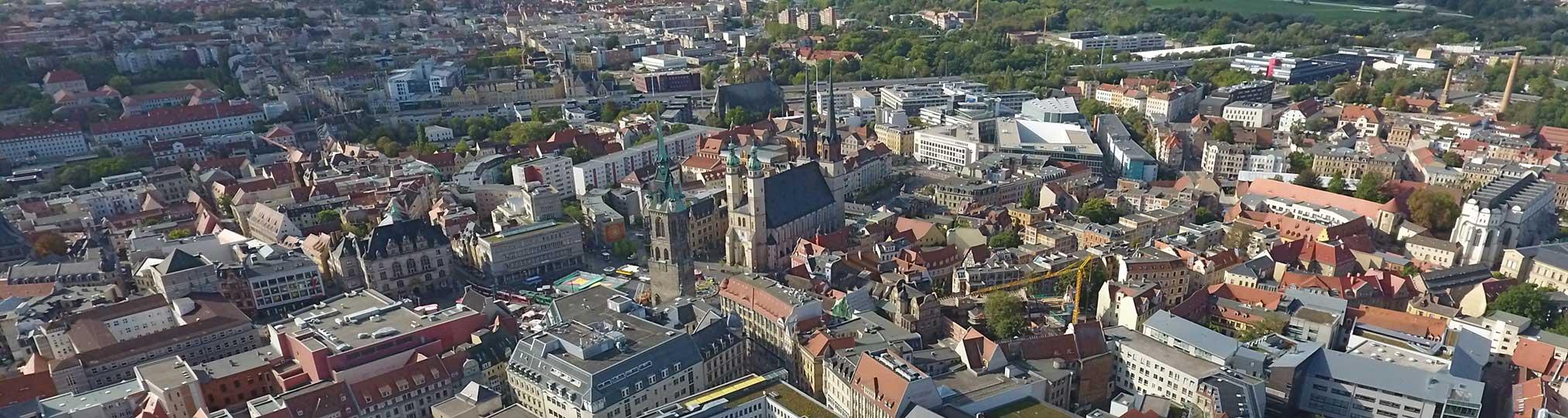 Stadtzentrum von Halle