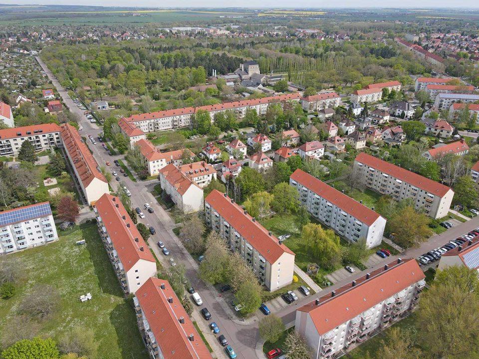 Blick über Halle (Saale) zum Thema Mietspiegel